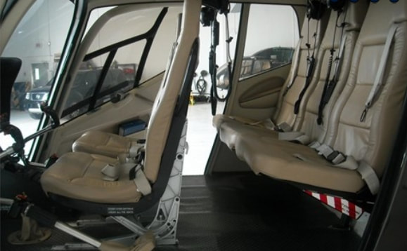 EC120B Interior Seating Configuration